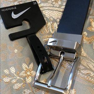 Nike reversible belt black/brown sz 38 NWT